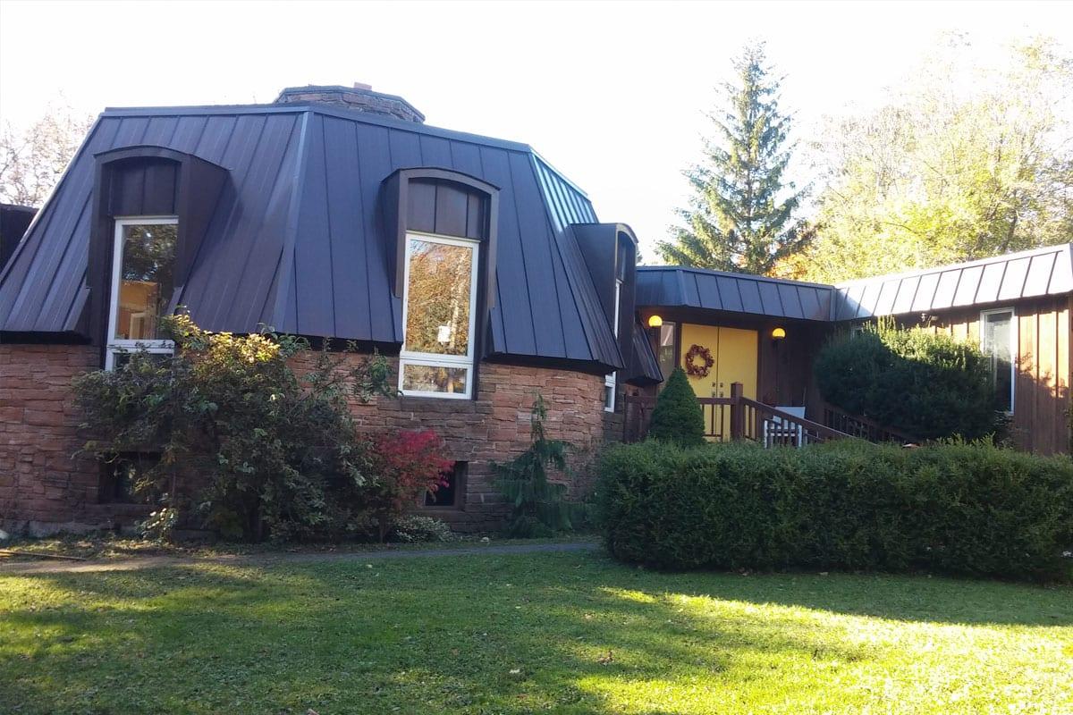 Metal Roof Mansard Brown Moffatt Bros Roofing Ltd